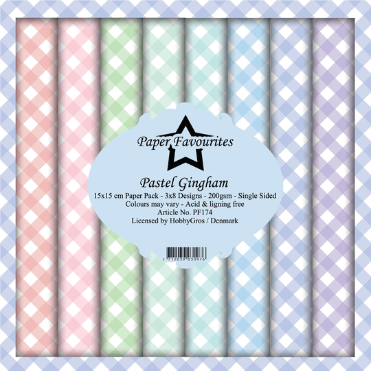 Paper Favourites, Paperpad, Pastel Gingham , 6x6 inch - PF174
