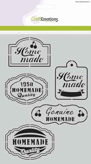 CraftEmotions, Mask Stencil, Fifties Kitchen Labels - 185070/1020