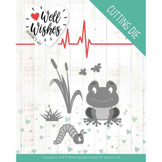 Jeanine's Art, Snijmal, Well Wishes, Smiling Frog - JAD10094