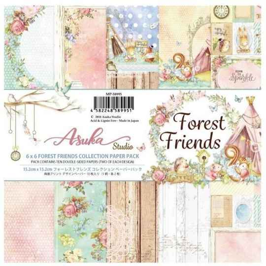 Memory Place, Paperpad, Forest Friends , 6x6 inch - MP-58995