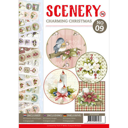 Push Out Book, Scenery 9 , Charming Christmas - POS10009