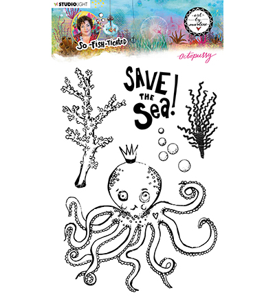 Studiolight, Art by Marlene, Clear Stamp,  So-Fish-Ticated, Octopussy- ABM-SFT-STAMP09