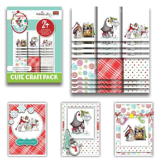 PolkaDoodles, Cute Craft Topper Pack, Gnome Fun Christmas - PD7981