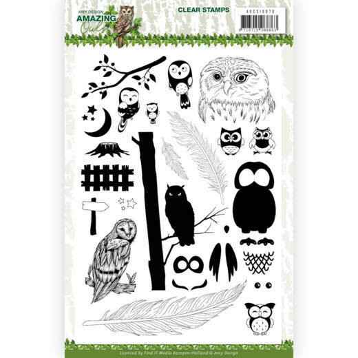 Amy Design, Clear Stamp, Amazing Owls - ADCS10070