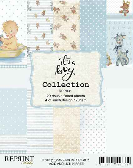Reprint, Paperpad, It's a Boy Collection, 6x6 inch - RPP031