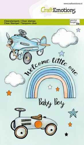 CraftEmotions, Clear Stamp, Baby Boy - 130501/1344