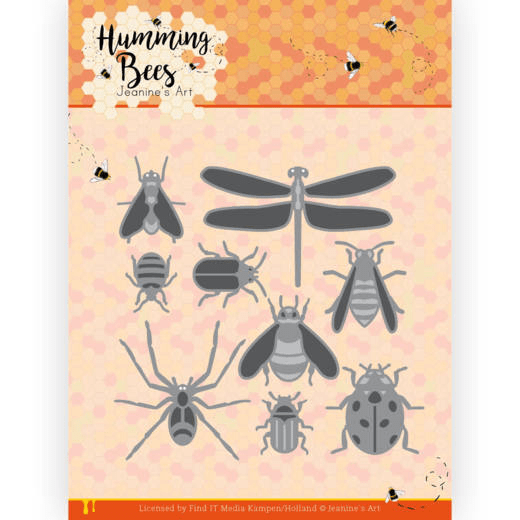 Jeanine's Art, Snijmal, Humming Bees, All kinds of insects - JAD10127