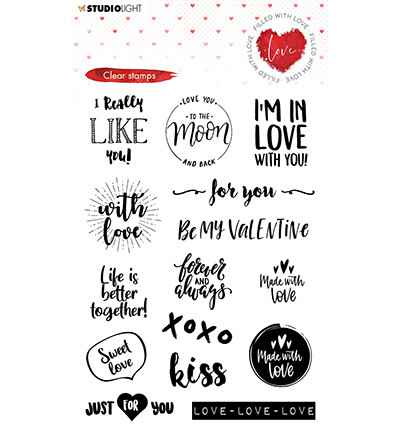 Studiolight, Clear Stamp, Filled with Love, nr. 509 - STAMPFWL509