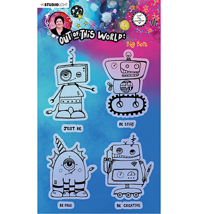 Studiolight, Art by Marlene, Clear Stamp, Out of this World, Big Bots - ABM-OOTW-STAMP73
