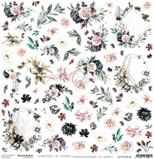 Craft O Clock, Scrapbookvel, Flowers Nr. 15, A sheet of extra's to cut