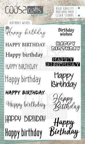 Coosa Crafts, Clear Stamp, Birthday Wishes -  COC-071