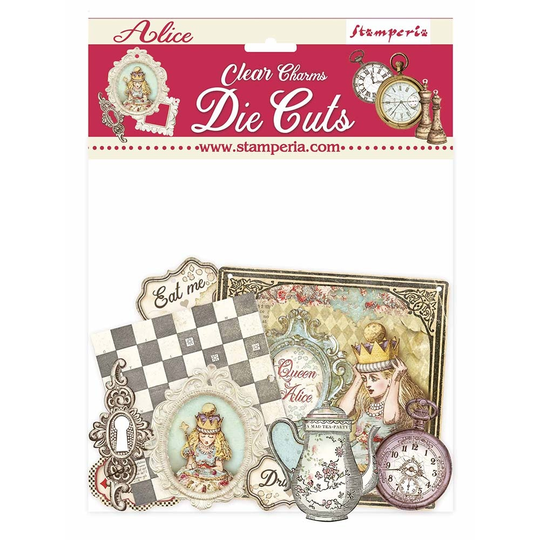 Stamperia, Clear Charms , Alice- DFLDCP18