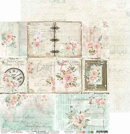 Craft O Clock, Scrapbookvel , Hello Beauty, Sheet with Decorative Cards