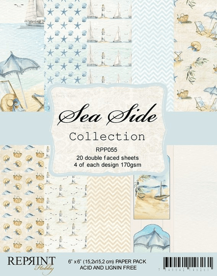 Reprint, Paperpad, Sea Side Collection , 6x6 inch - RPP055