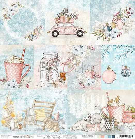 Craft O Clock, Scrapbookvel, Frosty Sparking, A sheet with Decorative Cards