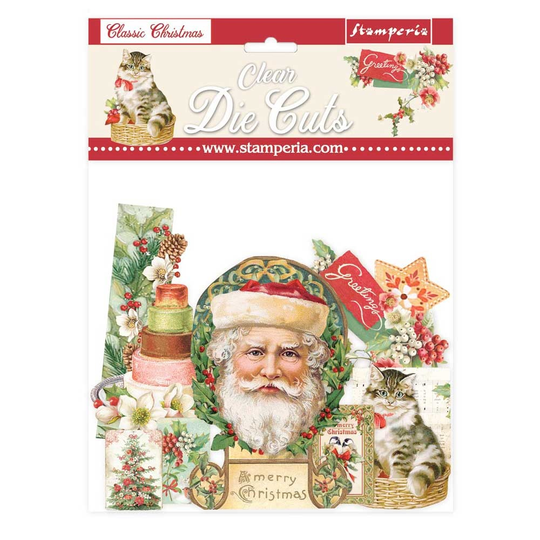 Stamperia, Clear Die Cuts, Classic Christmas - DFLDCP09