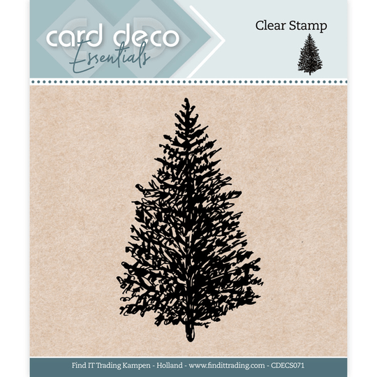 Card Deco, Clear Stamp, Christmas Tree - CDECS071