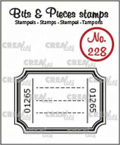 Crealies, Clearstamp, Bits & Pieces, Ticket - CLBP228