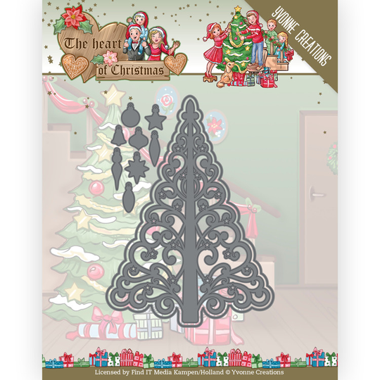 Yvonne Creations, Snijmal, The Heart of Christmas, Twinkling Tree - YCD10255