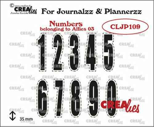 Crealies, Clear Stamp, Journalzz & Plannerzz, Cijfers 03 - CLJP109
