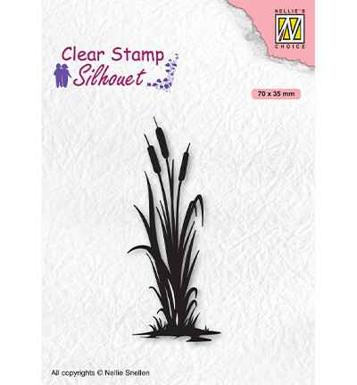 Nellie Snellen, Clear Stamp, Silhouettes, Bulrushes 2 - SIL077