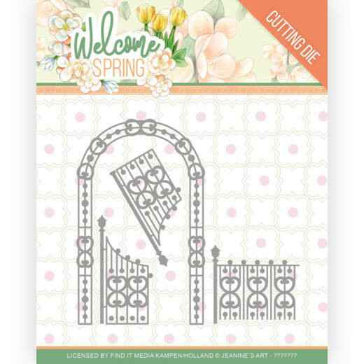 Jeanine's Art, Snijmal, Welcome Spring, Arch and Fence - JAD10113