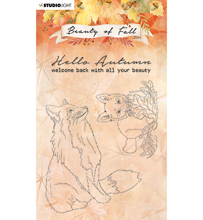 Studiolight, Clear Stamp, Beauty of Fall, Foxes - SL-BF-STAMP61