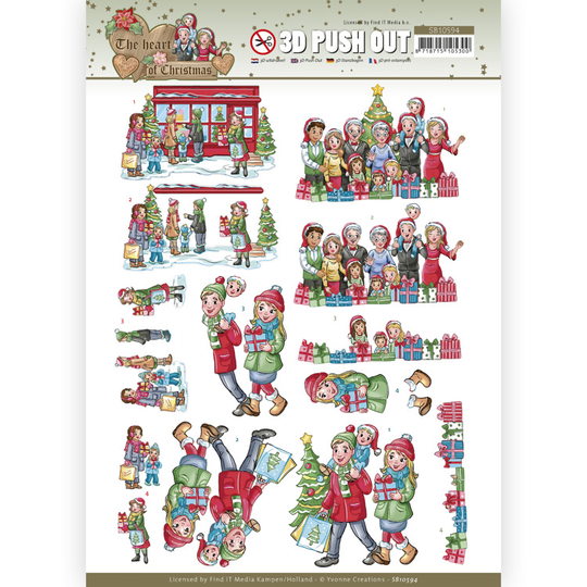 Yvonne Creations , 3D Push Out, The Heart of Christmas, Shopping - SB10594