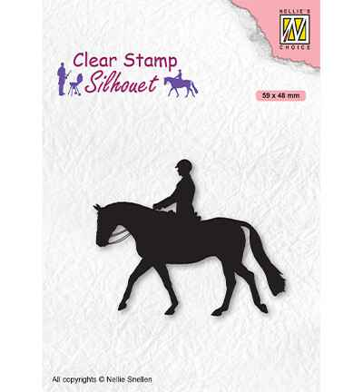 Nellie Snellen, Clear Stamp, Silhouette, Men-Things, Horseman- SIL068