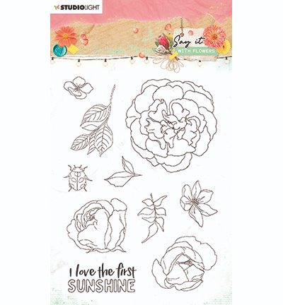 Studiolight, Clear Stamp, Say it with Flowers, nr. 527 - SL-SWF-STAMP527