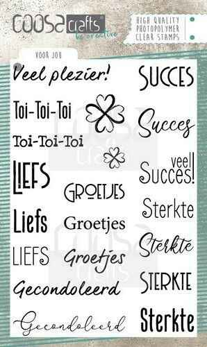 Coosa Crafts, Clear Stamp, Voor Jou -  COC-073