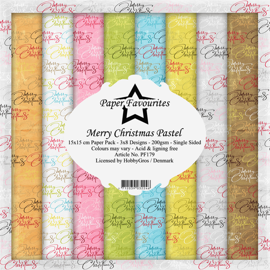 Paper Favourites, Paperpad, Merry Christmas Pastel , 6x6 inch - PF179