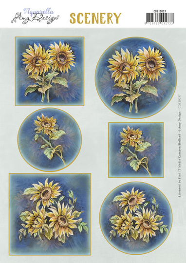 Amy Design, Push Out, Scenery, Sunflowers - CDS10037
