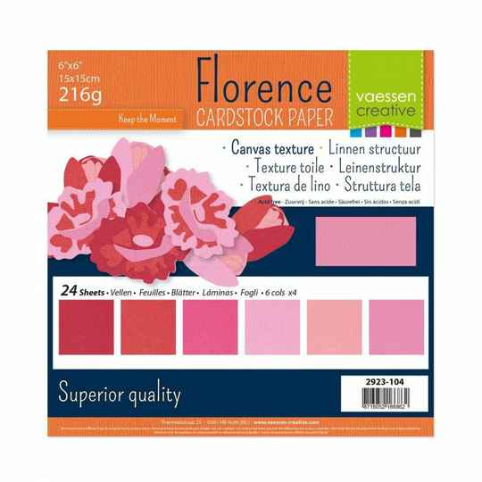 Florence, Cardstock, Texture, Multipack, Roze - 2923-104