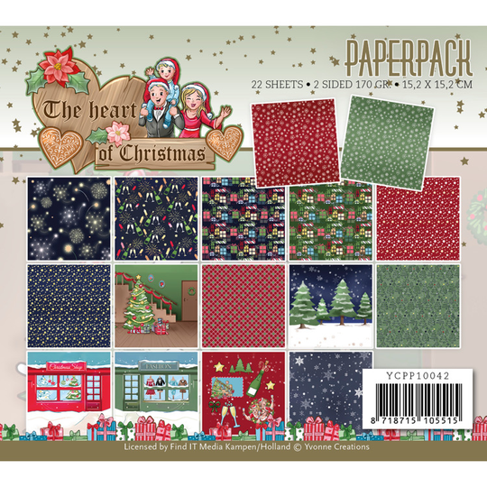 Yvonne Creations, Paperpad, The Heart of Christmas - YCPP10042