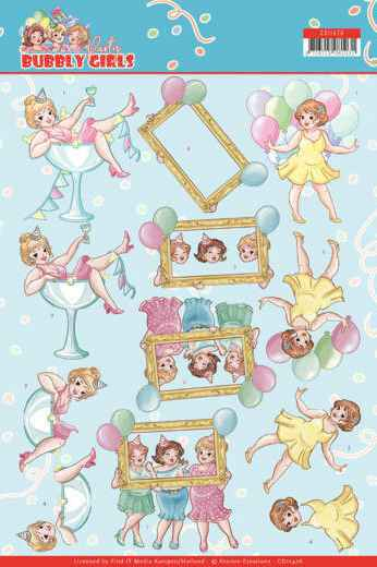 Yvonne Creations, 3D Knipvel, Bubbly Girls Party, Let's Have Fun - CD11476
