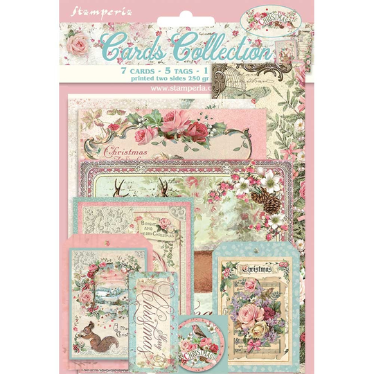 Stamperia, Cards Collection, Pink Christmas - SBCARD08