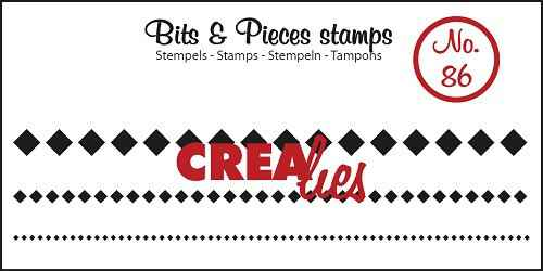Crealies, Clear Stamp, Bits & Pieces, Squares in a Row - CLBP86