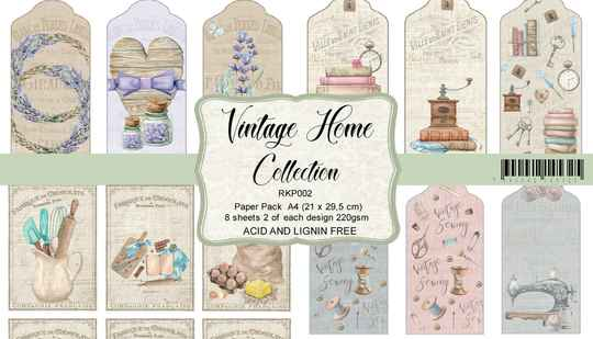 Reprint, Paperpad, Vintage Home Collection, Cut Outs A4 formaat - RKP002