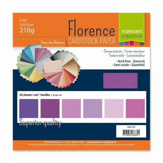 Florence, Cardstock, Texture, Multipack, Paars - 2923-103