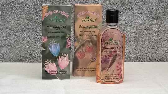 Song of India - herbal massage oil 2 flavors 100 ml each