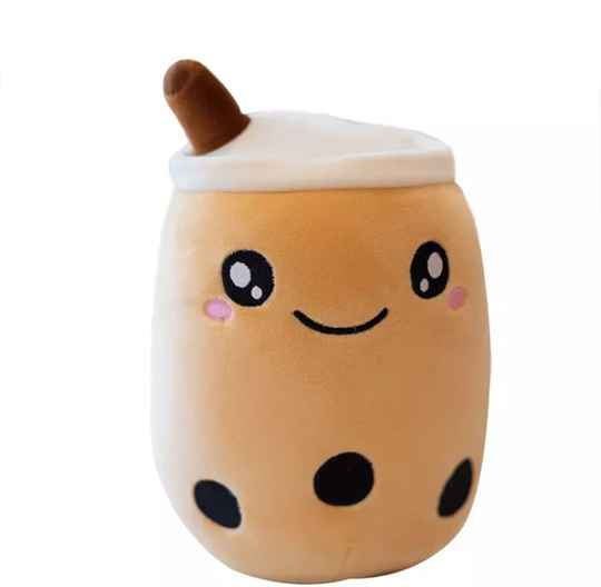 Bubble Tea Boba | Pluche Knuffel | Brown | 24 cm