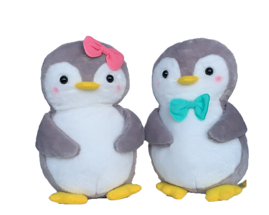 Cute Couple Penguin (Pinguïn) | Plushy Knuffel Set | 25 cm