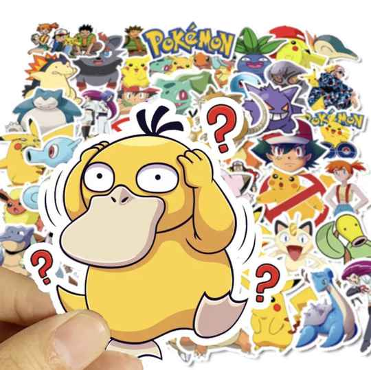 Pokémon stickers pack | 50 stuks