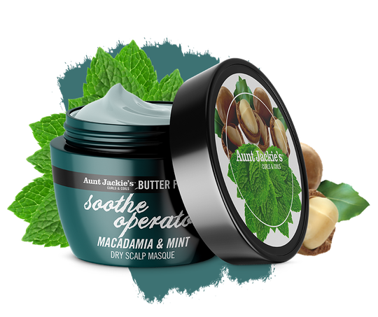 Aunt Jackie's Sooth Operator Macadamia & Mint Dry Scalp Conditioning Masque 30ml