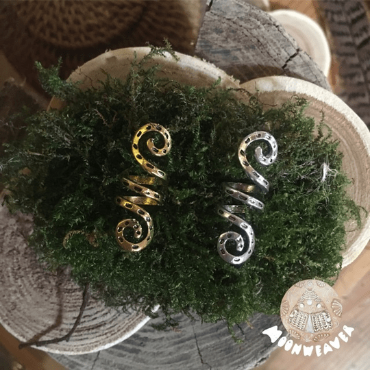 Spiral above and below ~ Silvercolor / Goldcolor