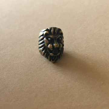 Lion's head ~ brass or silver color