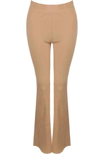 FLARED PANTS CAMEL