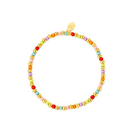 Armband colored and golden beads