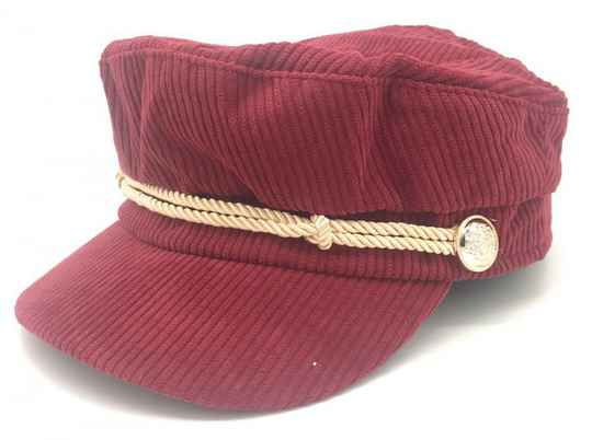 Captains cap - bordeaux rood